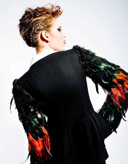 Feather Jacket designed by Tomasz Kociuba