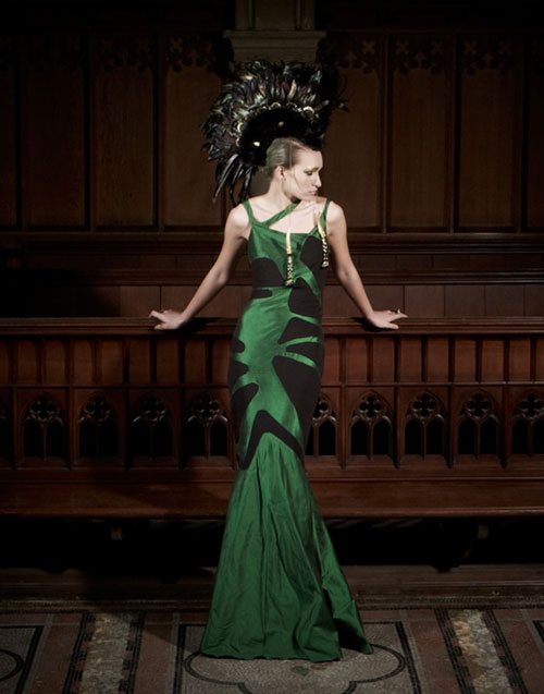 Green Dress designed by Tomasz Kociuba