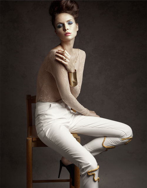 White Trousers Designed by Tomasz Kociuba