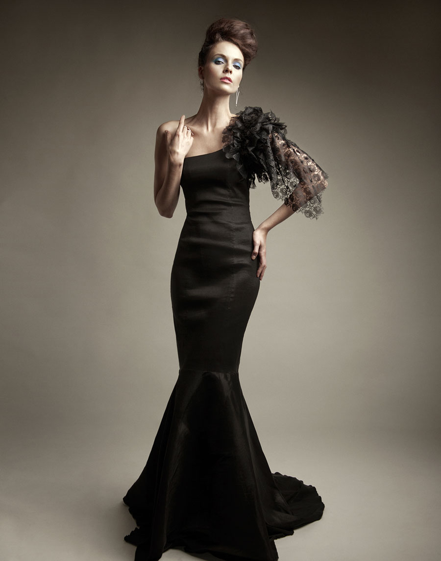 Tomasz Kociuba Black Evening Dress Design