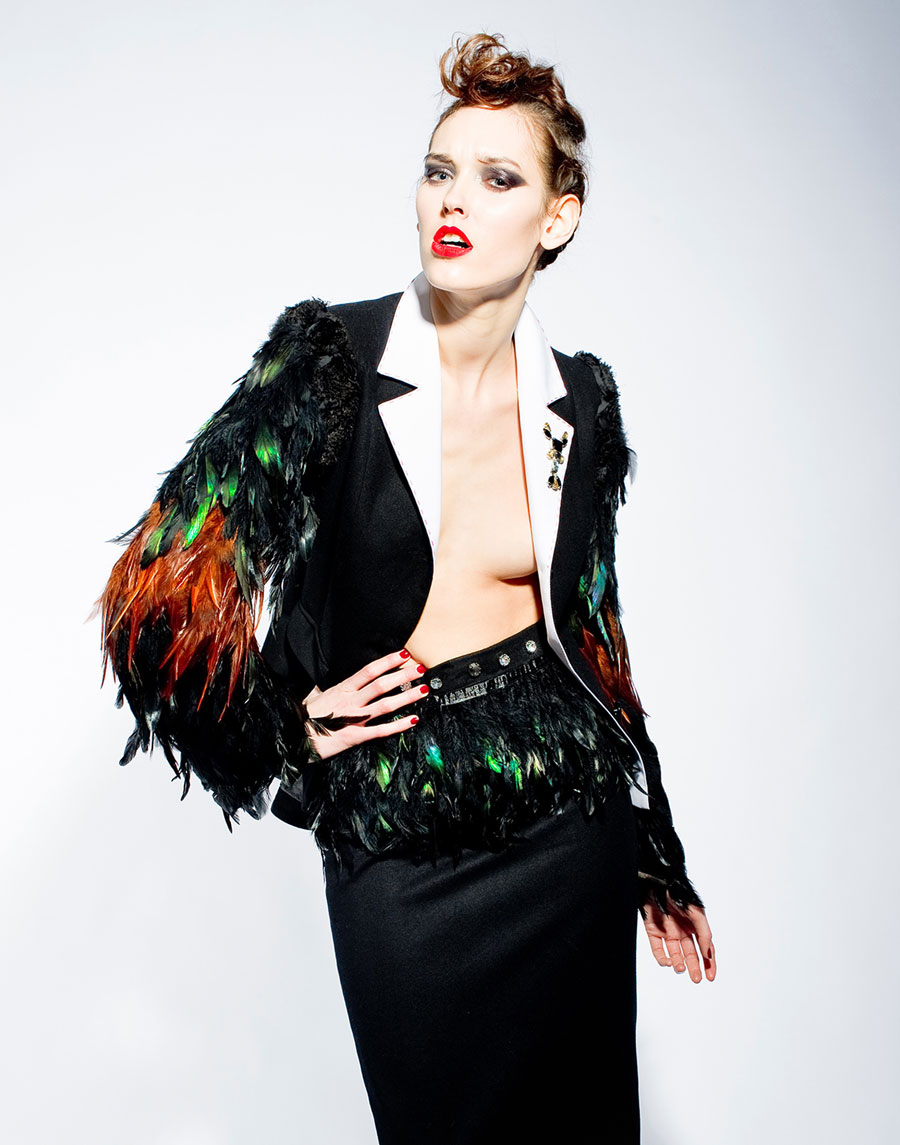 Tomasz Kociuba Feather Jacket Design